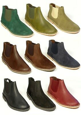 New UNISEX Chelsea style slip on boots leather suede sizes UK 3-11 made in Spain
