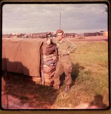 Vietnam Slide- 2 Tour Army GI with 18TH ENGINEER BRIGADE collection 1966-70 #86