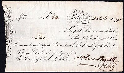 James Darling, Agent for the Bank of Scotland, Kelso, 1830