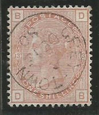 GB Used in Nicaragua 1880 1/= orange-brown with Grey-Town cds