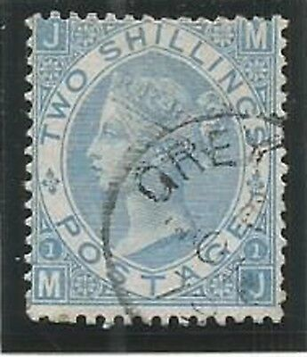 GB Used in Nicaragua 1867 2/=pale blue with Greytown cds postmark