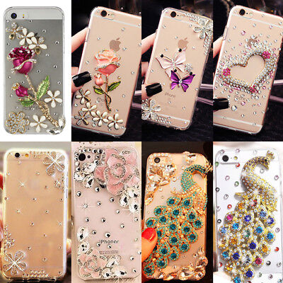 US Lovely Bling TPU+PC Case Cover Diamond Protective Skin for iPhone /Samsung/LG