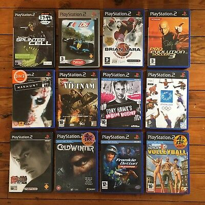 Job Lot Of 12 PS2 Games (Tony Hawk's, Tekken, Pro Evolution Soccer, Brian Lara)