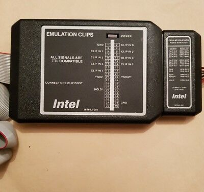 INTEL 167642-001 EMULATOR w/ 14-count Emulation Clips & Probe Terminator