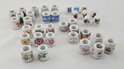 Porcelain Candle holder & Thimbles Lot -  8 Thimbles - 28 Candle Holders-