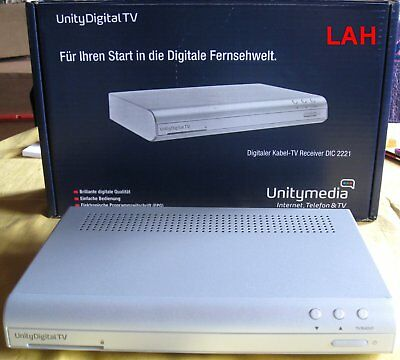 unitymedia unity digital tv digitaler kabel tv receiver dic 2221 neu ovp eur 21 50. Black Bedroom Furniture Sets. Home Design Ideas