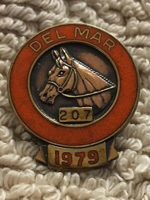 1979 Del Mar (Home Of This Years Breeders' Cup) Super Rare Official's Pin #207