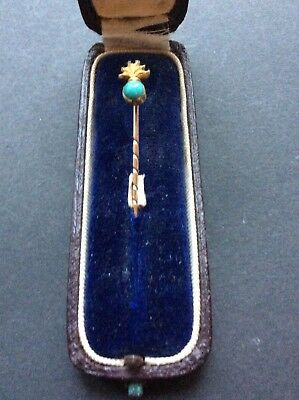 Sweetheart  Tie Pin Gold Royal Fusiliers Ww1 Boxed