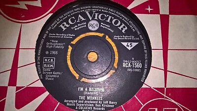 THE MONKEES UK RCA 45 I'M A BELIEVER 1st ISSUE 1966  EX