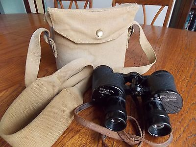 WW2 R.E.L Canadian Army 6 x 30 binoculars with case.1944.Very good condition.