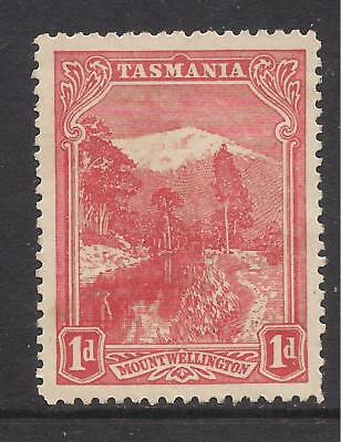 TASMANIA  1905-11  1d rose-red  wmk crown over A inverted  unused