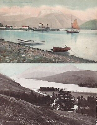 "MacBRAYNE STEAMER PS ""Pioneer"" CORPACH LOCH OICH 2 SUPERB CANCEL on POSTCARDS"