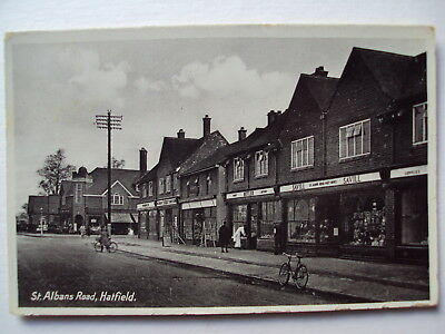 St. Albans Road, Hatfield - showing Post Office - 1945