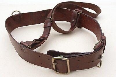 Vintage Ww2 Dated 1941 Sam Brown 34W Officers Leather Belt D. Power & Sons Maker