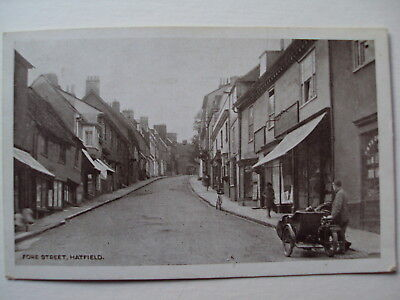 Fore Street, Hatfield - 1924 motor-cycle and side-car