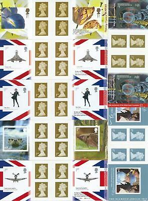GB 2009-11 Selection of 7 Retail Booklets FV £27.30 LOOK!