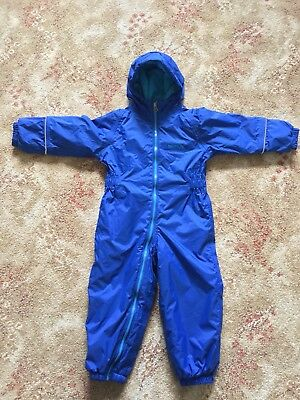Regatta Baby Boy Toddler Rain Snowsuit Blue 24 - 36 Months 2- 3 Years