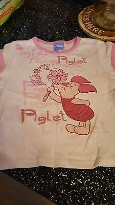 girls disneys piglet t-shirt  size 6/7 years in great condition
