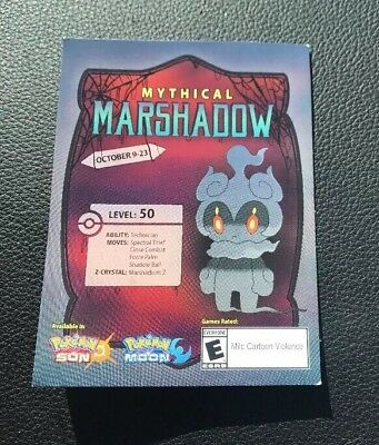 GameStop Event Mythical Marshadow Pokemon Sun & Moon Card with Code!