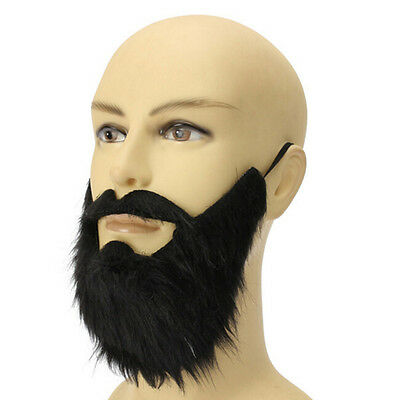 Costume Party Male Man Halloween Beard Facial Hair Disguise Game Black/Mustache/