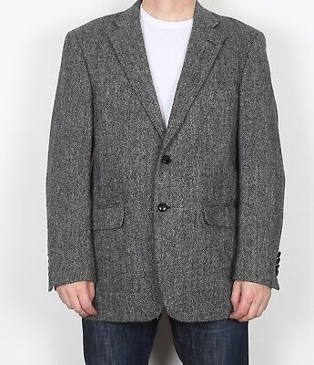 "Harris Tweed 42"" Medium Large  Jacket Blazer Grey    (9AE)"