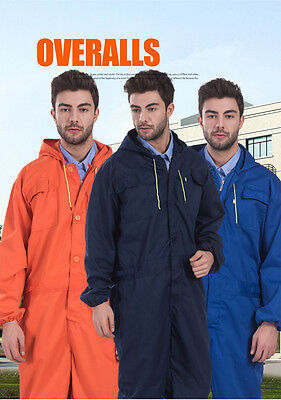 Mens Coverall Overall Fashion Boilersuit Mechanic Work Wear