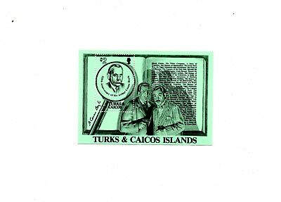 Turks & Caicos Is Sir Arthur Conan Doyle Minature Sheet 1984
