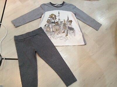 Girls Designer Mayoral Outfit Top And Leggings Age 3 Years Vgc