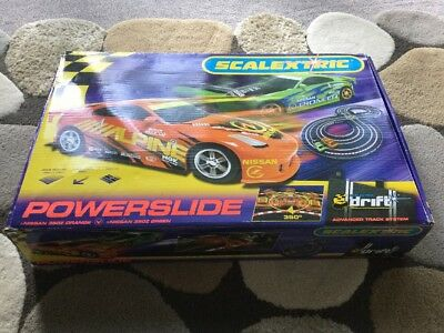 SCALEXTRIC Powerslide Drift Set With Nissan Cars 360 Slide