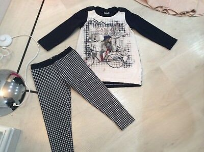 Girls Designer Mayoral Outfit Jumper And Leggings Age 3 Years