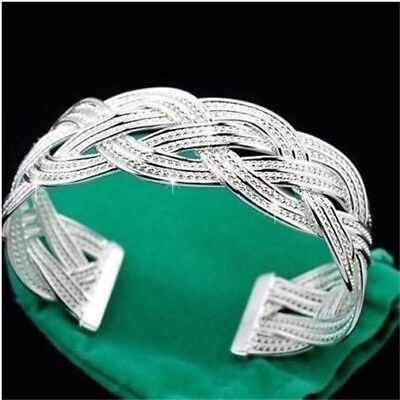 Free P&P Meshy Net Link XMAS LOVER Gift Bracelet Bangle 925SOLID Silver JEWELRY