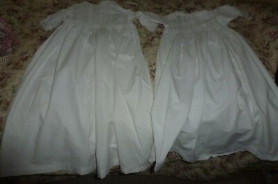 Victorian/Edwardian cotton baby gowns x 2 'Beautiful'
