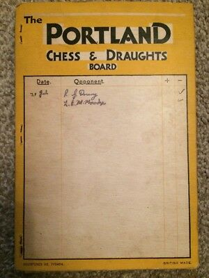 Used Portland Chess & Draughts Board, Complete