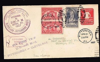 Usa Stamp – 1927 First Flight Cover Scarce Use Special Zone