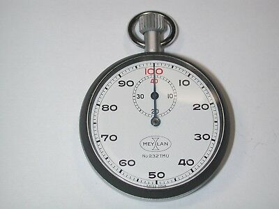"""Watchmaker's Boxed """"MEYLAN"""" 1/100 TH Second Stop Watch. 63M"""