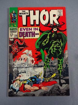 Thor #150 First Hela Cover Appearance Jack Kirby Cover Art Marvel Comics 1968