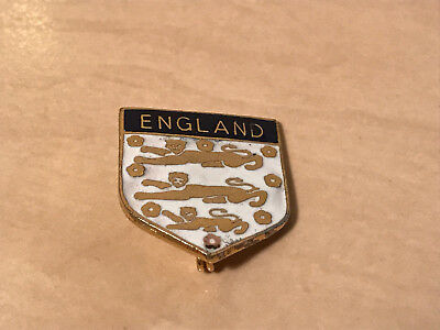 Vintage England Football 3 Lions Enamel Badge by Coffer