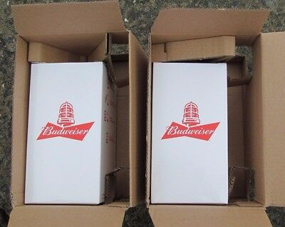 New Budweiser Goal Synced Red Light Glass Limited Edition Lot of 2