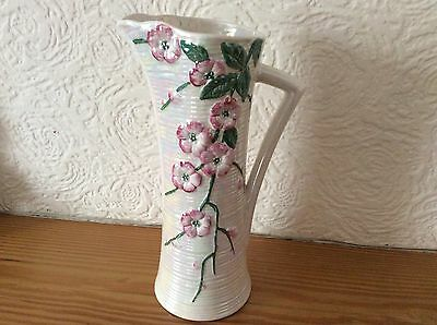Mailing Ware Apple Blossom Lustre Glaze Jug / Pitcher Art Deco