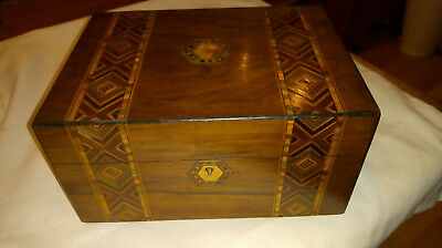 Vintage/Antique Inlaid marquetry /parquetry Wooden Box