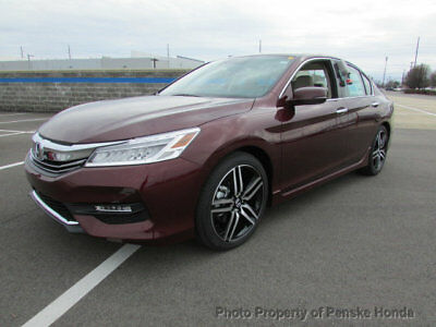 2017 Honda Accord Touring Automatic Touring Automatic New 4 dr Sedan Automatic Gasoline 3.5L V6 Cyl Basque Red Pearl