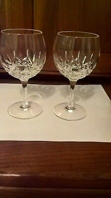 Waterford Crystal Wine /hock Glasses Lismore ? Pattern X2
