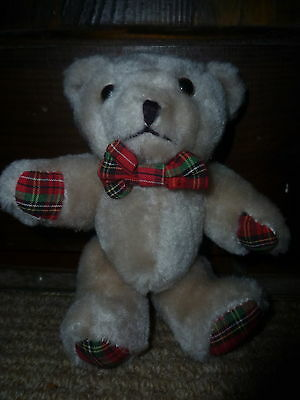 Miniture tartan teddy bear