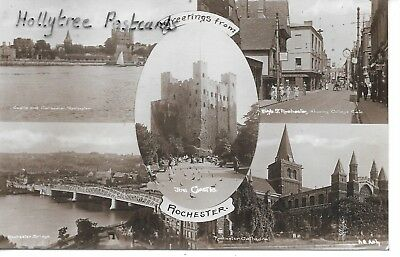 1938 Rochester  mv castle cathedral high street river    Kent  RP