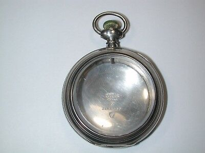 "American 4 Ounce Hinged ""STERLING SILVER Open Face P.W. Case. 96M"
