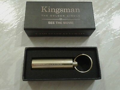 KINGSMAN: The GOLDEN CIRCLE movie - CASH STASH KEYCHAIN! 2017 Official PROMO NEW