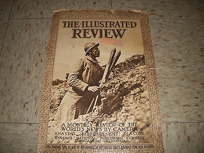 Febuary 1917 Illustrated Review Magazine WW1 News and pictures