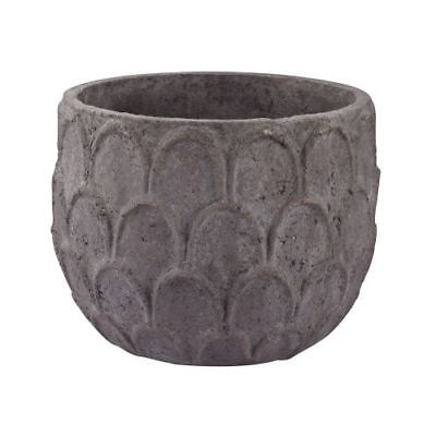 Dimond Home 156-010 Small Aged Powdered Lotus Petal-Carved Pot