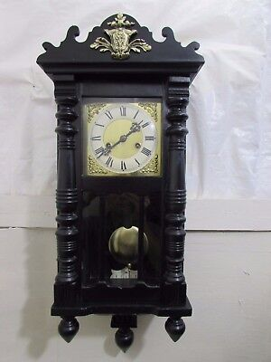 Victorian Vienna Wall Clock HAC German Striking 8 Day Chime Spring Needs Replace