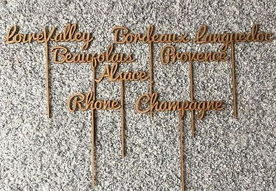Wedding Table Names 8 Wooden French Wine Regions Table Centres Decorations